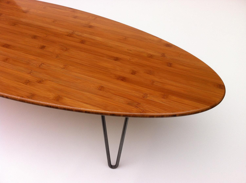 66u2033 Surf Board Elliptical Mid Century Modern Coffee Table ...