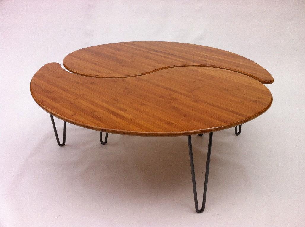 - Mid-Century Modern Yin Yang Nesting Round Coffee Table