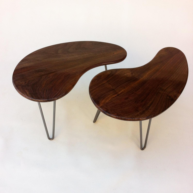 Mid Century Modern Kidney Bean Side Tables \u2013 Pair of 28\u2033 Tables ...