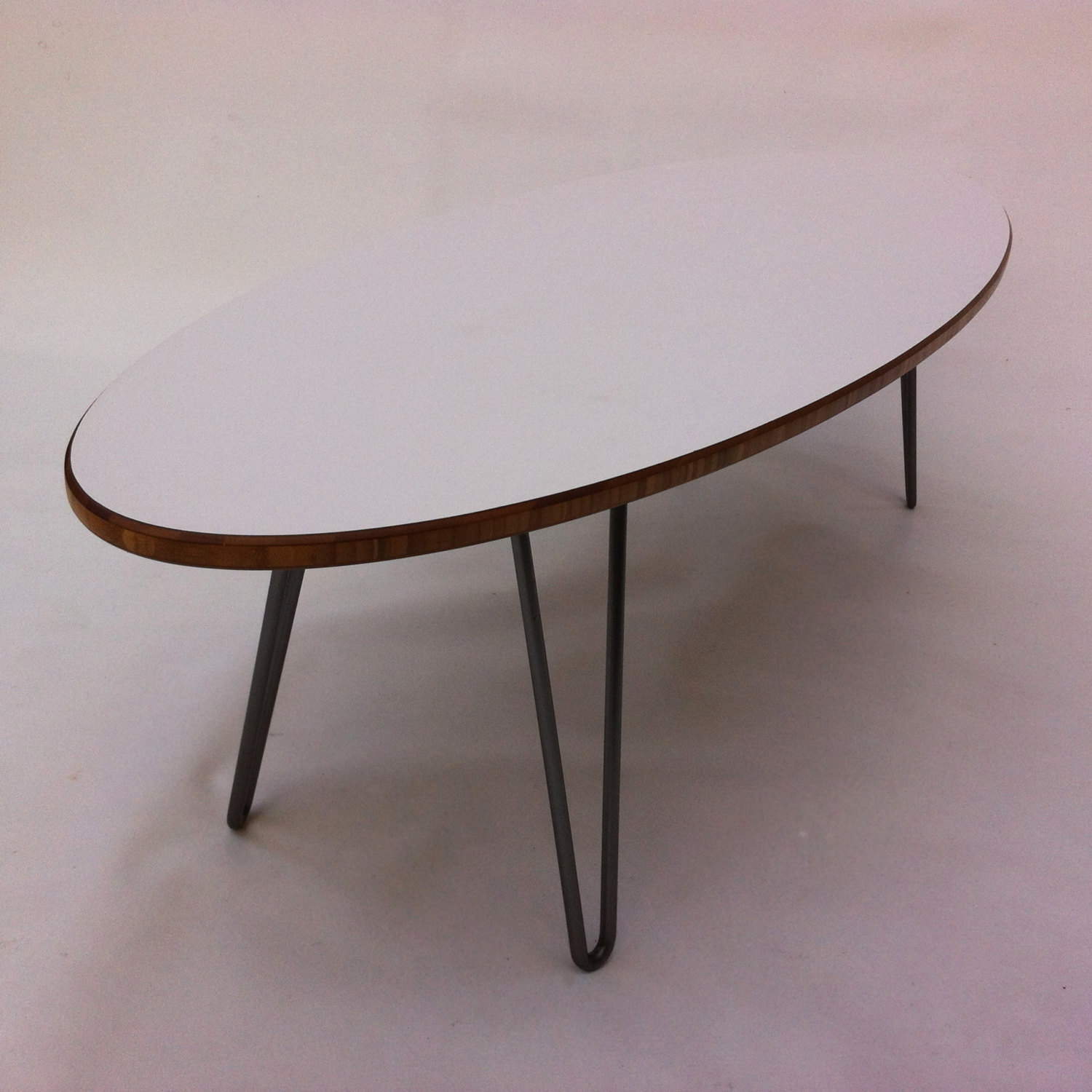 White Mid Century Modern Surf Board Coffee Table