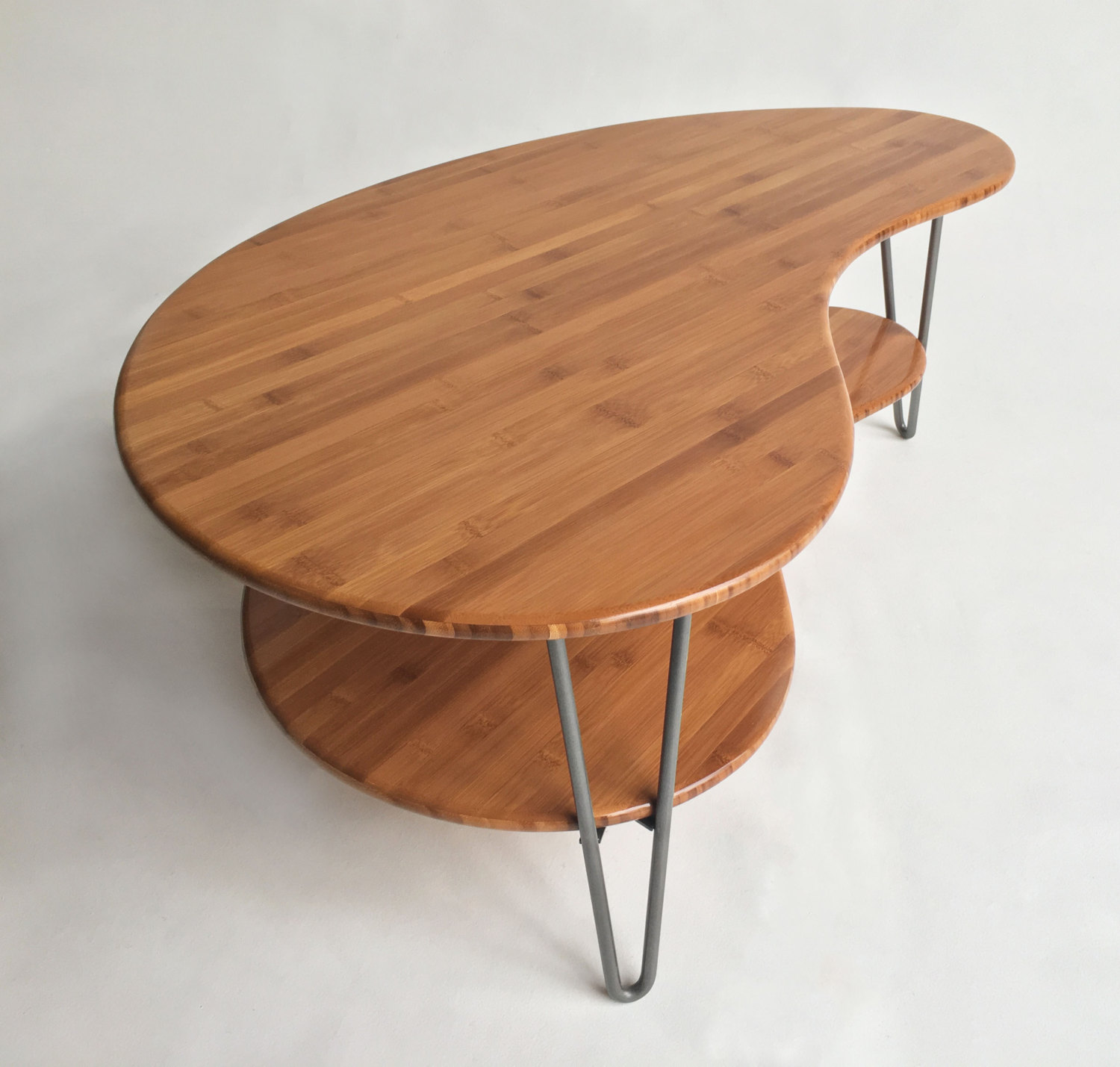 Mid century modern coffeecocktail table kidney bean shaped with mid century modern coffeecocktail table kidney bean shaped geotapseo Choice Image