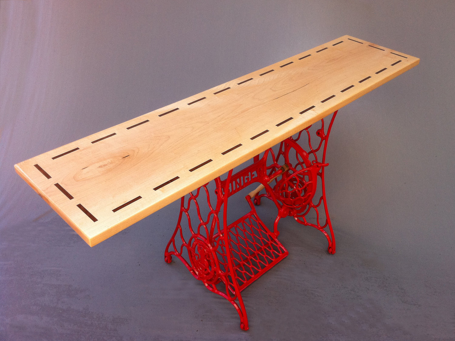 QUICK SHIP Modern Console Table Hall Entry Table Stitch by