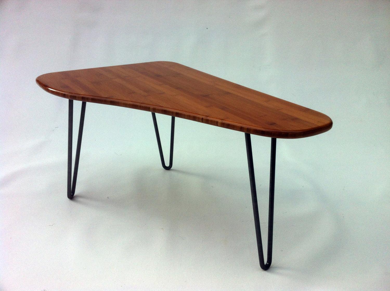 Triangle Mid Century Modern Side Table \u2013 Tapered Shaped \u2013 Atomic ...