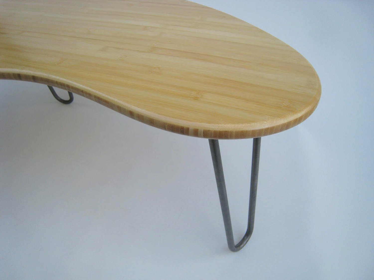 Mid Century Modern Coffee Table Kidney Bean Shaped Amorphic Curves Atomic Era Design In