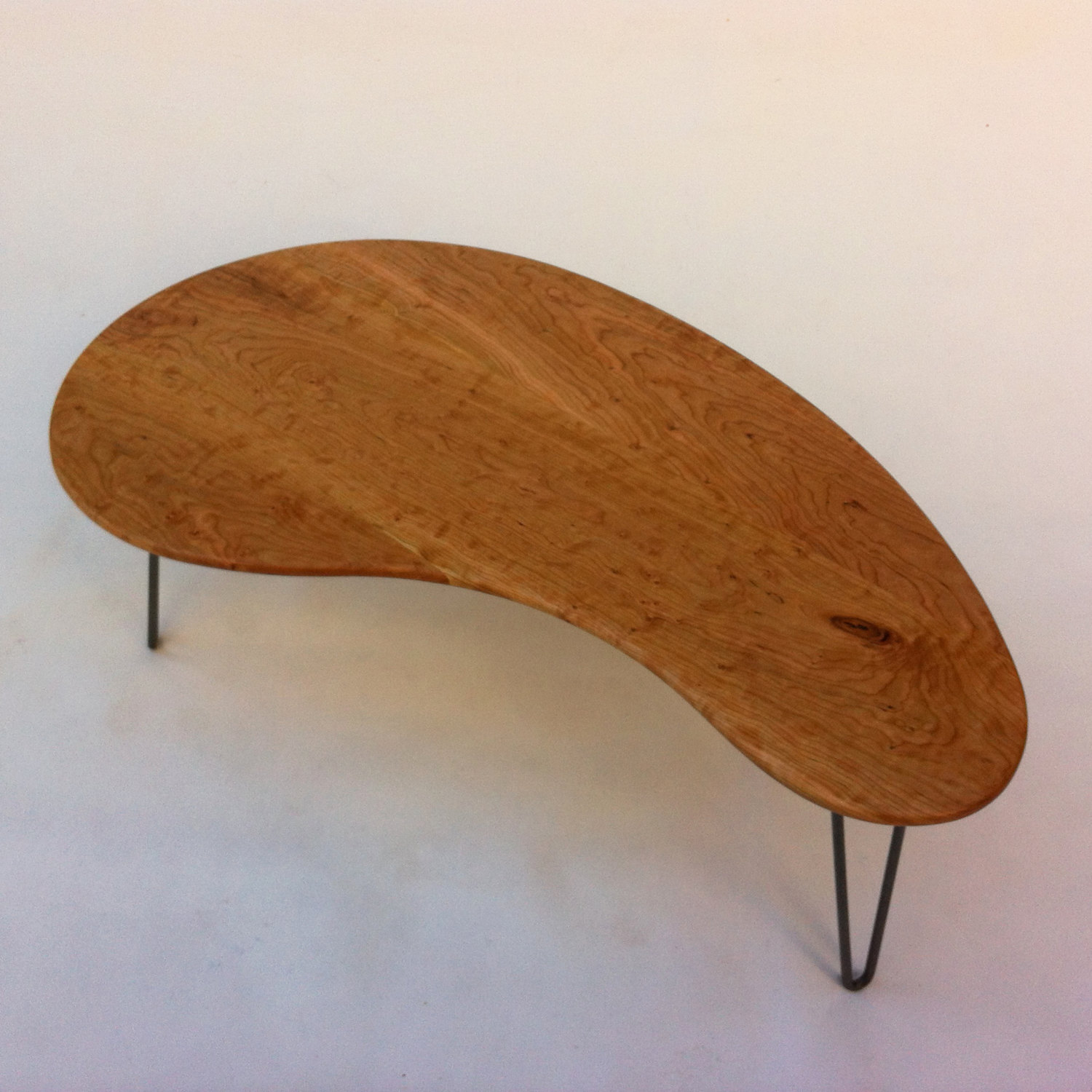 Mid century modern coffeecocktail table 43 kidney bean shaped mid century modern coffeecocktail table 43 kidney bean shaped solid cherry hardwood eames era biomorphic boomerang design geotapseo Choice Image