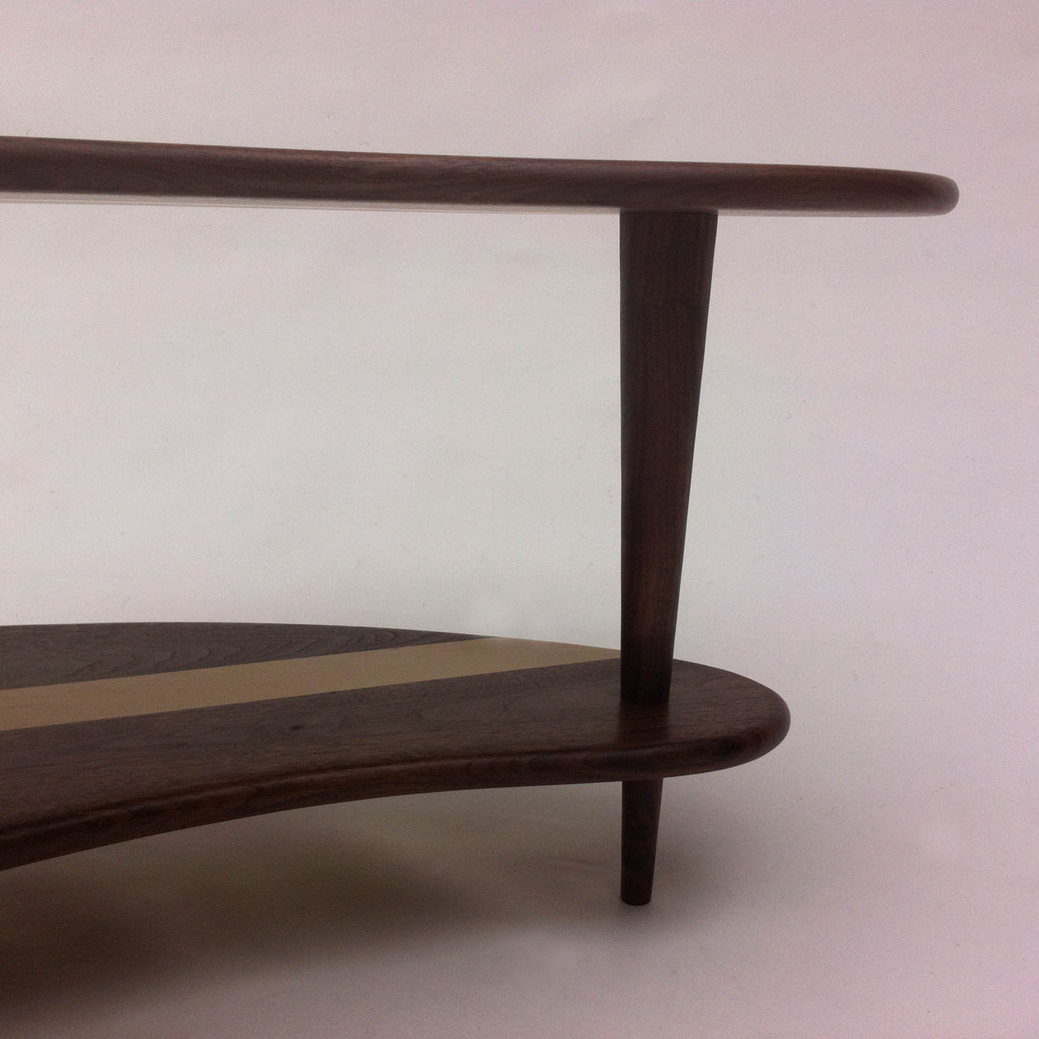 Mid century modern coffee cocktail table solid walnut with shelf mid century modern coffee cocktail table solid walnut with shelf kidney bean shaped boomerang design w tapered walnut legs geotapseo Choice Image