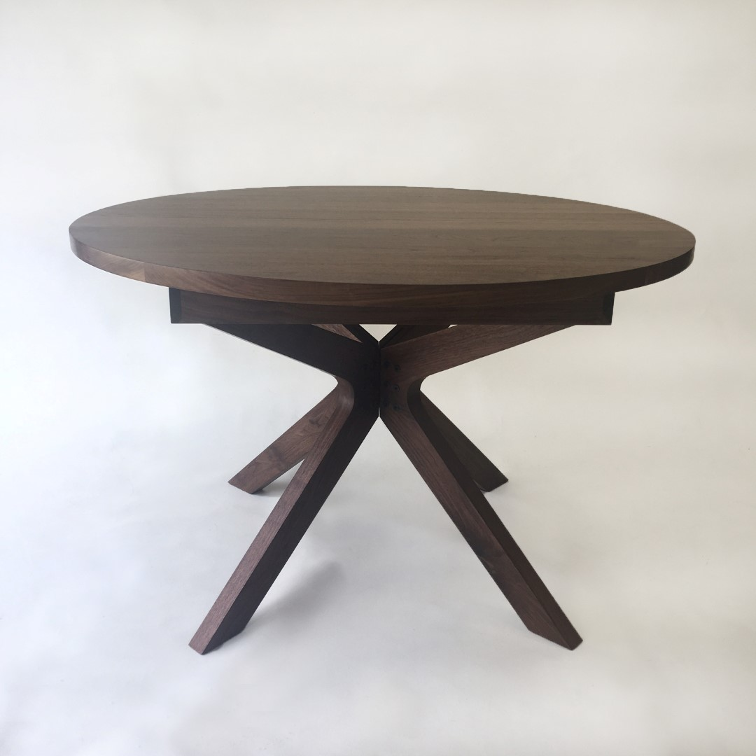 Contemporary Round Dining Table Contemporary Modern Solid Walnut Round Dining Table With Modern
