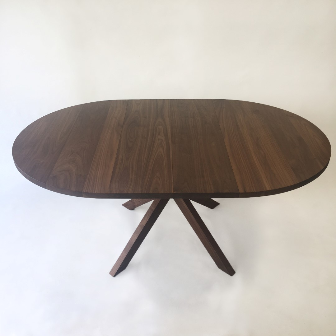 Large Round Dining Table Seats 12: Contemporary Modern Solid Walnut Round Dining Table With